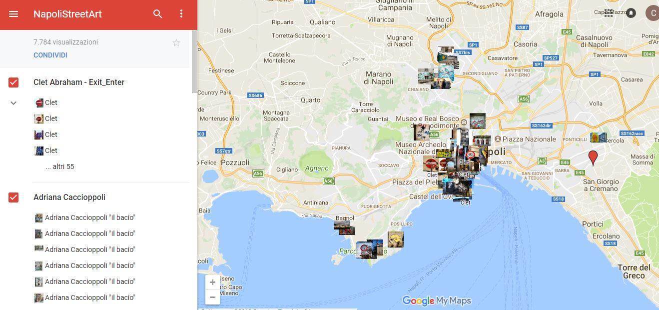 La Cartina Di Napoli.Napolistreetart Una Mappa Interattiva Per Trovare Le Opere Partenopee