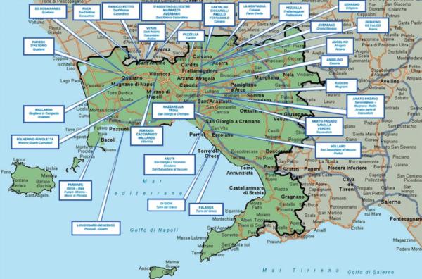 Mappa della camorra chi comanda in provincia di napoli for Pianta dell appartamento di 600 piedi quadrati