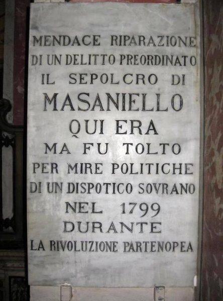 Iscrizione Masaniello