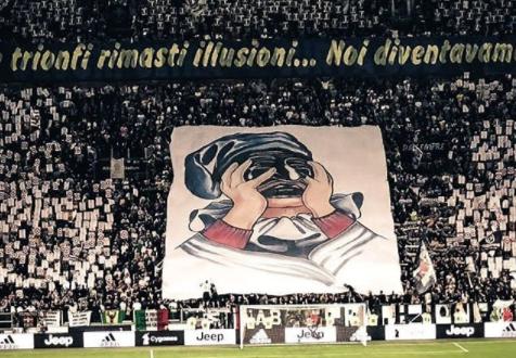 striscione Juventus