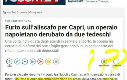tgcom24 furto Capri