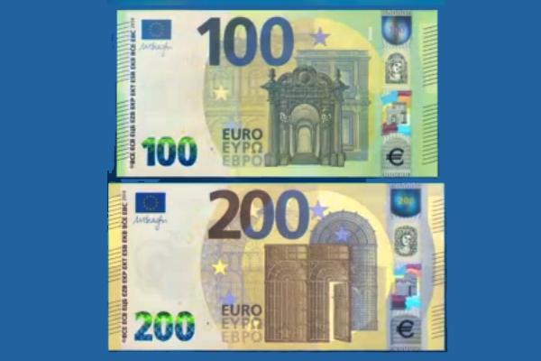 d3c429a580 La Banca Centrale Europea, dopo i biglietti da 5, 10, 20 e 50, ha  presentato oggi le nuove banconote da 100 e 200 euro, che entreranno in  circolazione dal ...