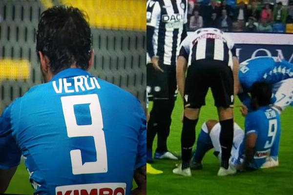 Napoli, Verdi va subito ko contro l'Udinese: problema muscolare