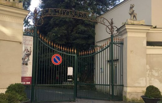 Vomero, via Cimarosa, ingresso villa Floridiana (1)