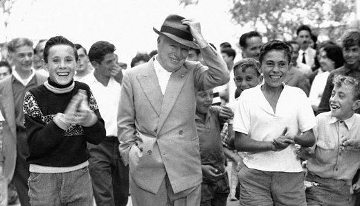 Chaplin a Ischia