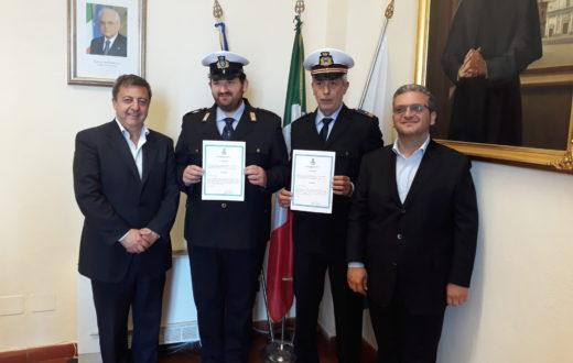 encomio alla polizia municipale di torre del greco