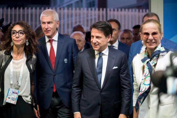 giuseppe conte universiadi napoli 2019