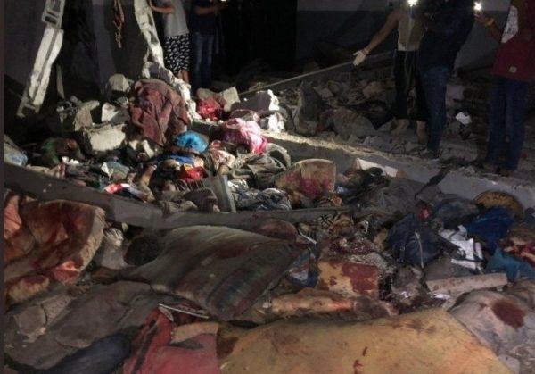 libia centro detenzione migranti bombardato