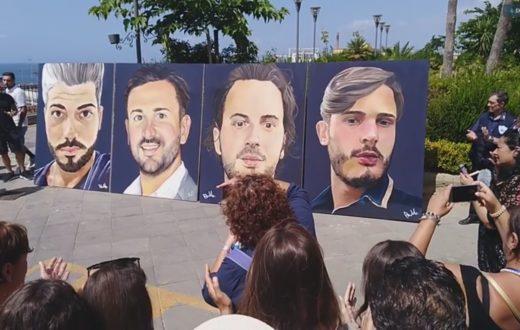 murale torre del greco vittime genova