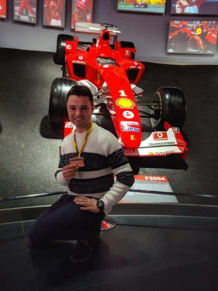 Filippo al Museo della Ferrari