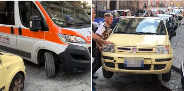 auto sosta selvaggia blocca ambulanza