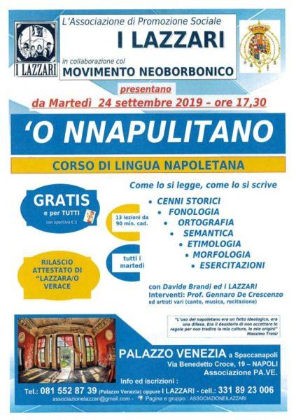 corsi lingua napoletana lazzari 2019