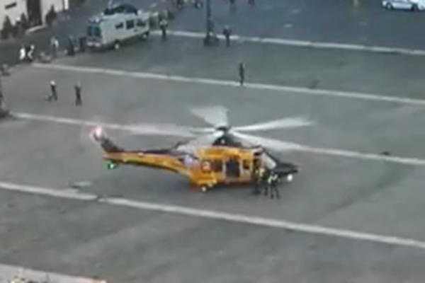 elicottero guardia di finanza piazza del plebiscito