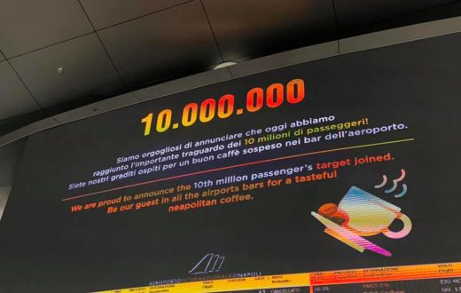 aeroporto napoli capodichino 10 milioni di passeggeri