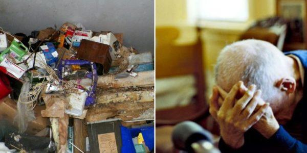 anziano sfrattato figlio garage afragola