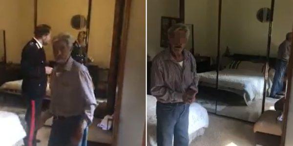 carabinieri deridono anziano malato