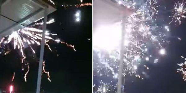 fuochi d'artificio in casa