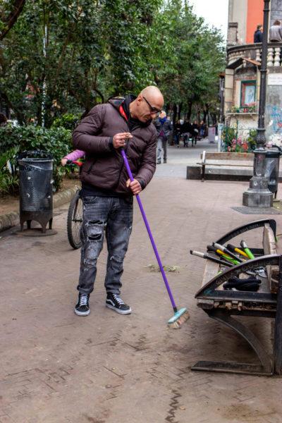 sii turista piazza bellini pulizia