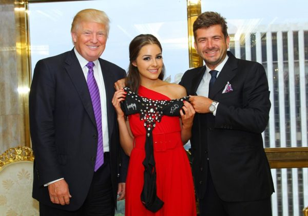 Gianluigi Cimmino con Donald Trump e Olivia Culpo