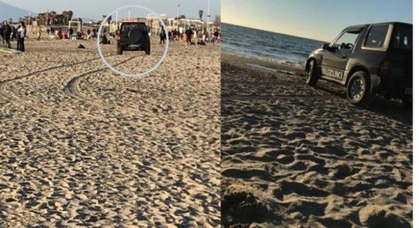 auto spiaggia varcaturo