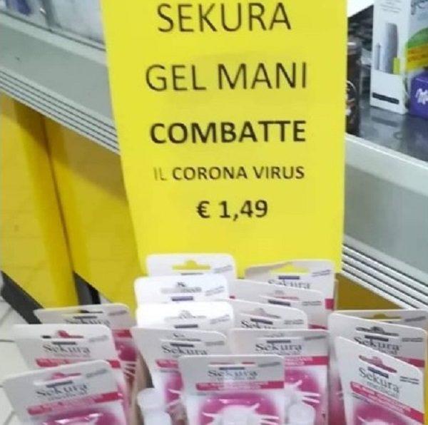 gel per mani combatte coronavirus