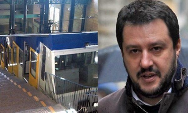 Matteo Salvini a Napoli: