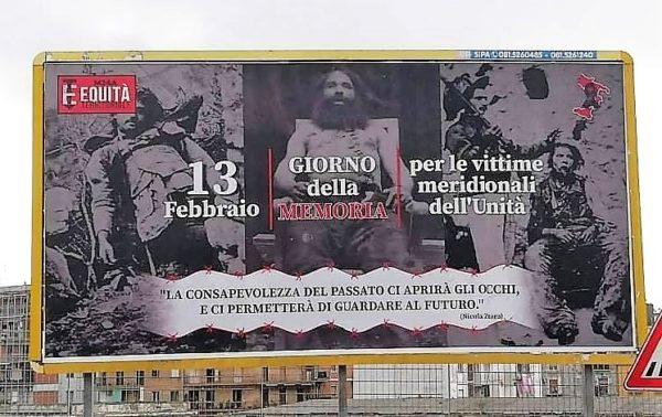 Spuntano in tutto il Sud manifesti per ricordare le vittime Unità d'Italia
