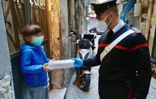 Coronavirus Rione Sanità carabinieri