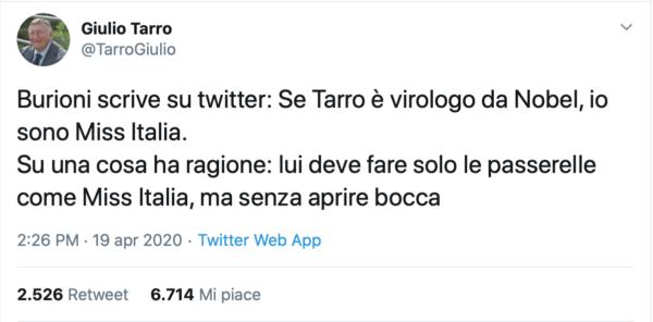tweet tarro burioni