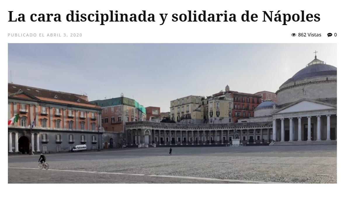"""Cucine Usate Campania Napoli in cile ci esaltano: """"viva napoli, disciplinata e solidale"""""""