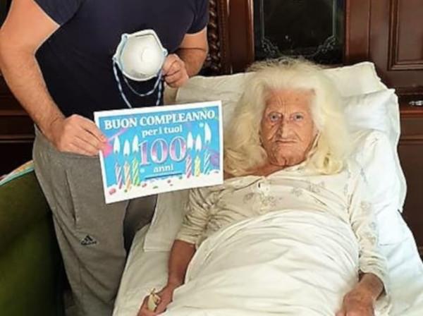 nonna raffaella 100 anni