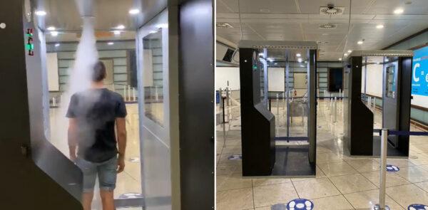 cabine sanificazione aeroporto napoli capodichino