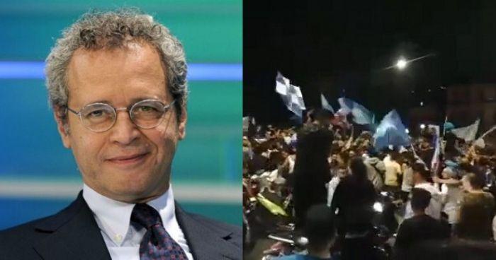 Enrico Mentana difende i tifosi napoleani: