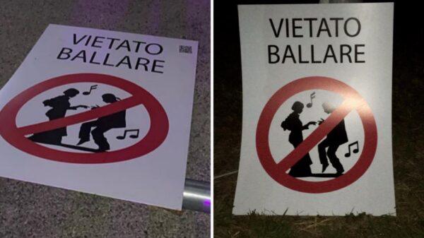 divieto ballare