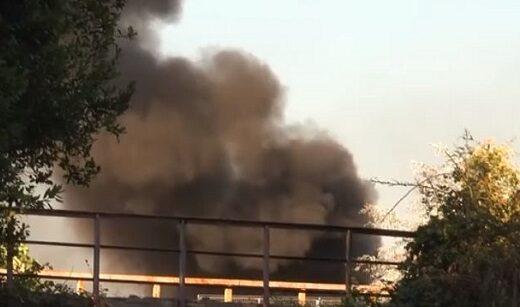 Incendio campo Rom Ponticelli