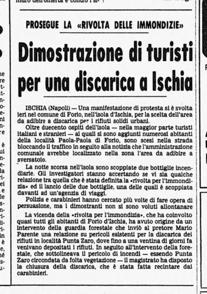 Discarica Zaro - Corriere della Sera, 28 luglio 1978
