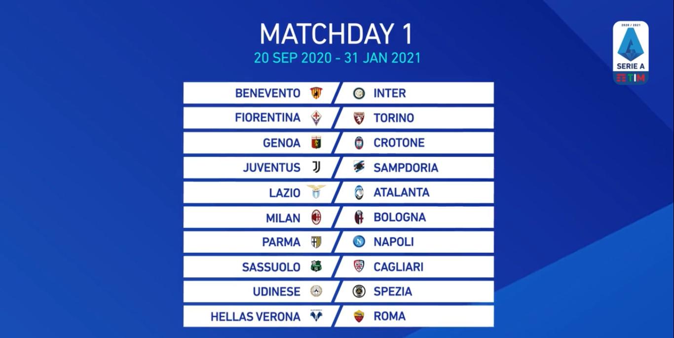 Serie A Calendario Ufficiale La Prima Partita Del Napoli E Contro Il Parma
