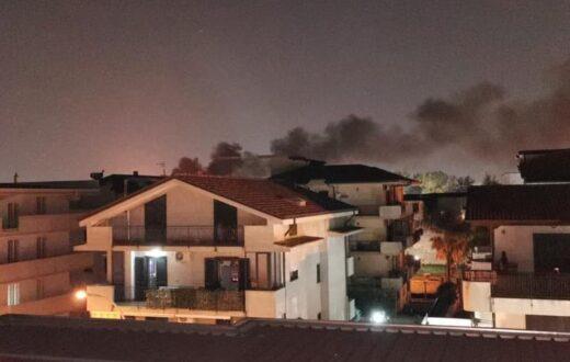 incendio a Frattaminore