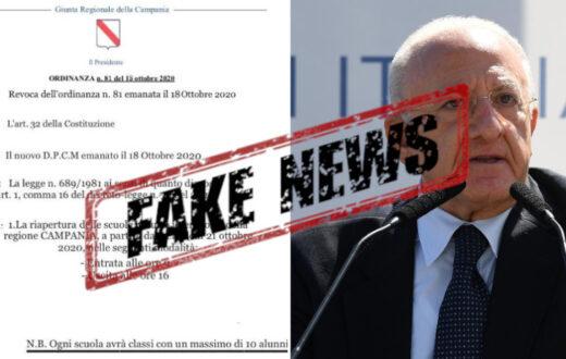 fake news riapertura scuole