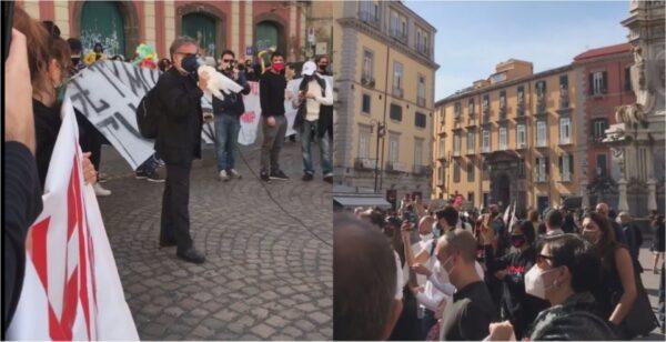 protesta piazza del gesù