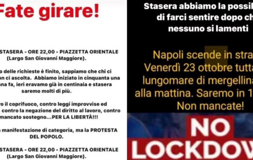 proteste napoli lockdown