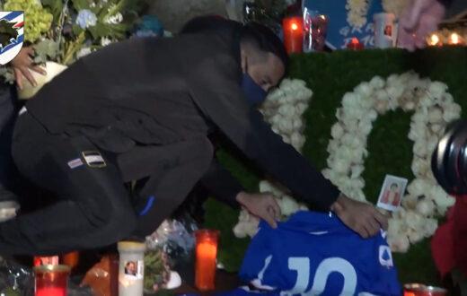 fabio quagliarella sampdoria omaggio Maradona