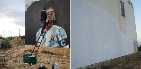 murale maradona giofoe sardegna