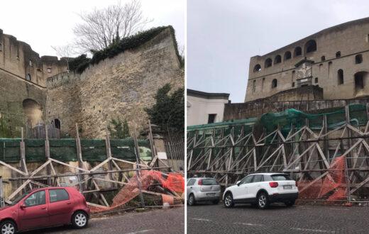 mura castel sant'elmo rischio crollo