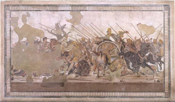 restauro mosaico battaglia di isso