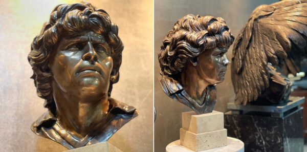 busto maradona bronzo domenico sepe