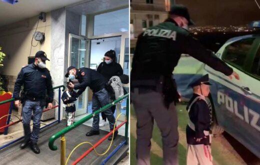 Davide diventa un poliziotto