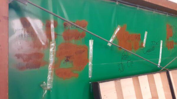 san sebastiano raid vandalici