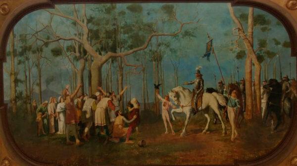 omaggio del popolo a Ruggero il Normanno, Augusto Moriani