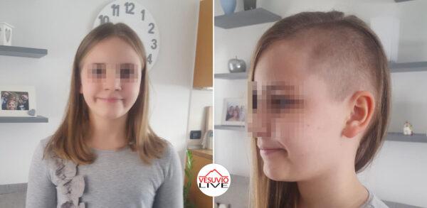 allegra capelli rasati parrucca